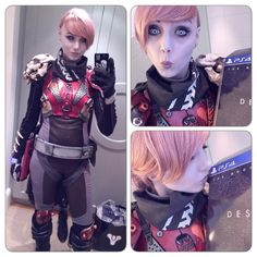 Norwegian cosplayer @KarinOlava decked out in full Hunter gear to celebrate the launch of #Destiny