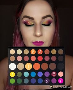 Look by number using James Charles palette. Look by number using James Charles palette. Eye Makeup Steps, Makeup Eye Looks, Eye Makeup Art, Cute Makeup, Skin Makeup, Makeup Artistry, Mac Makeup, Makeup Brushes, Creative Eye Makeup