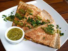 RFD's quesadillas stuffed with butternut squash, yams, carmelized onions