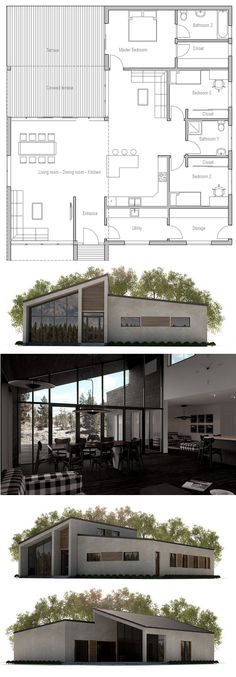 Simple et efficace Architecture, Construction and House