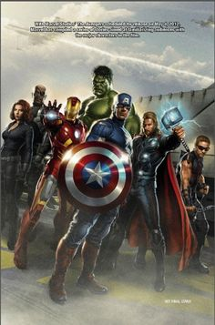 Marvel Avengers Promo Art For Movie Tie-In Comic Collection