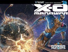 X-O Manowar #26 cover by Clayton Crain