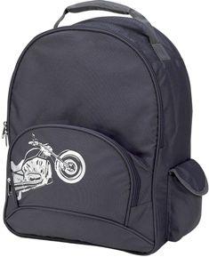 Four Peas Gray Biker School Backpack