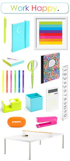 gotta love all the colorful office supplies by Poppin #workhappy #colorful #backtoschool #officesupplies
