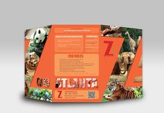 This project is a tri-fold brochure design for the Zoo Atlanta in Atlanta, GA. The brochure contain informational statement about the Zoo, attractions, and events. Ticket Design, Signage Design, Flyer Design, Layout Design, Zoo Signage, Signage Board, The Zoo, Wildlife Week, Akron Zoo