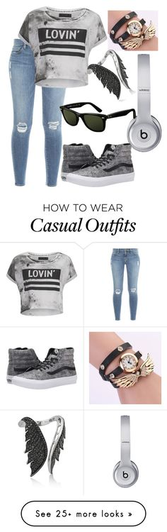 """Casual outfit"" by fashionfromheart on Polyvore featuring Frame Denim, Religion Clothing, Stephen Webster, Beats by Dr. Dre, Ray-Ban and Vans"