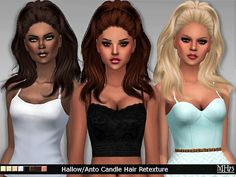 Hallow/Anto Candle Hair Retexture by Margeh75 at Sims Addictions via Sims 4 Updates
