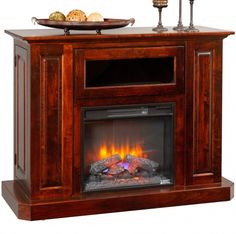 Solid Wood Amish Handcrafted Ellery Fireplace TV Cabinet #cabinfield