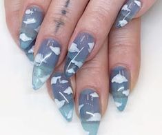 nails - Best Coffin Nail & Gel Nail Designs for Summer 2019 Nail Art Designs Cute Acrylic Nail Designs, Winter Nail Designs, Best Acrylic Nails, Dream Nails, Love Nails, Fun Nails, Gel Nagel Design, Nagel Hacks, Nagellack Trends