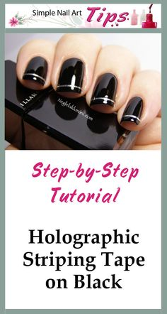 Great tutorial on how to use striping tape for nail art manicures
