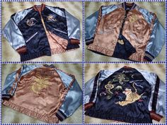 SUKAJAN TOYO ENTERPRISE souvenir  Reversible jacket UNITED STATES MARINE (JP L ) #TOYOENTERPRISE #FlightBomber