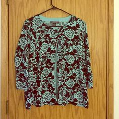 """Cardigan- Brand new- with tags Lovely black and robins egg blue cardigan. The perfect accent to an outfit- can dress up a tank top and make it """"work appropriate"""" in no time! (Also have it in white and black in size L). Long quarter length sleeves- comes with an extra button. Sweaters Cardigans"""