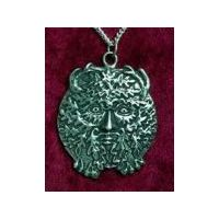 A very detailed greenman pendant