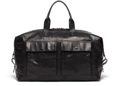 Alexander Black Leather Duffel Bag. Potenza Travel Leather and Canvas  Duffle bags 3cb3250dde20f