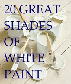 20 of the best- great shades of white paint - mostly from Benjamin Moore, but some from Farrow and Ball and Pratt and Lambert