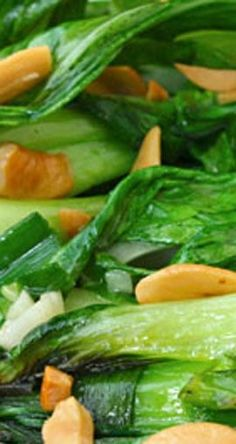 This Baby Bok Choy w/ Cashews recipe is a little more exciting than your average salad, and includes sesame oil, ginger, garlic and toasted cashews.