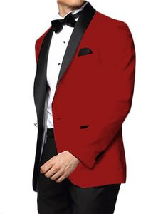 Downtown Red and Black Skyfall Tuxedo Jacket