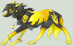 Gold, male wolf amazing hunter has crush on Sapphire power: Find ores of all kinds (open!)