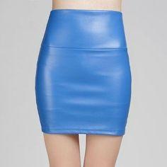 Leather Mini Pencil Skirt