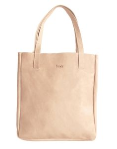 Funkis Vege tanned leather Tote in natural leather