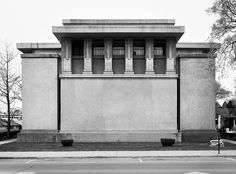 Unity Temple, designed by Frank Lloyd Wright. Oak Park, Illinois