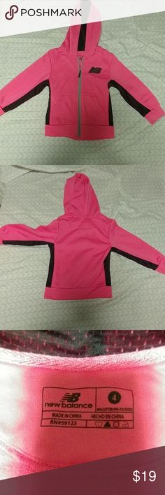 Girls Pink New Balance zip up hoodie Girls Pink New Balance zip up hoodie. Size 4-5T  Girls toddler cloths Excellent condition Smoke free home New Balance Shirts & Tops Sweatshirts & Hoodies