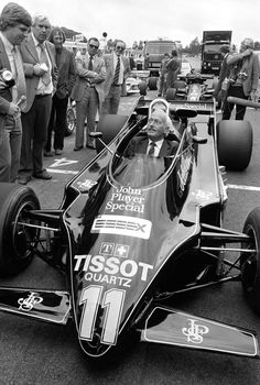 Creator and creature Colin Chapman - Lotus 87 (Brands Hatch 1981)