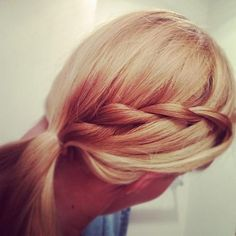 blonde braid twist