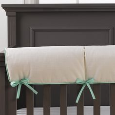 This rail cover has sold out. Please shop our other rail covers! Crib Bedding, Bedding Sets, Mint Green Nursery, Norton Commons, Crib Rail Cover, Unique Baby Gifts, Nursery Design, Plush Animals, How To Make Bed