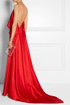 Michael Lo Sordo|Draped silk-satin gown|NET-A-PORTER.COM