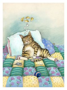 Cat Nap Giclee Print by Gary Patterson at Art.com