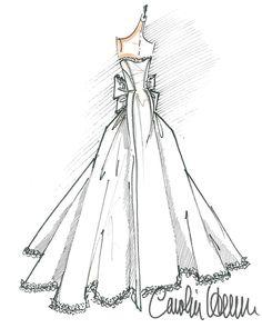 771 best fashion sketches illustrations 9 images fashion Gucci Evening Gowns carolina herrera sketch angel sanchez fashion sketchbook