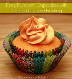 Easy Pumpkin Cupcakes with Cream Cheese Frosting