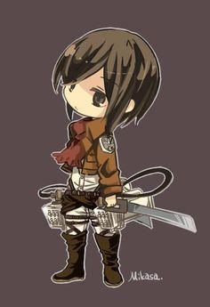 Shingeki no Kyojin - Chibi Mikasa