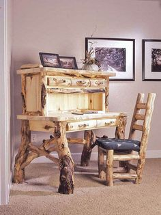 Log Furniture Collection For Vintage and Rustic Look