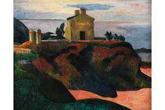 Paul Gauguin, The House of Pan-Du (La Maison du Pan-Du), 1890. Oil on canvas ,19 13/16 × 24 1/16 in. (50.3 × 61.1 cm). Private collection