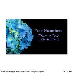 Blue Hydrangea - business card http://www.zazzle.com/hydrangeas*