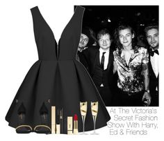 """At The VIctoria's Secret Fashion Show With Harry, Ed & Friends"" by storyofmylife1danita-scream ❤ liked on Polyvore featuring Yves Saint Laurent, Clarins, Lancôme, PUR and LSA International"