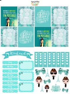 Tiffany Sticker Set by SugaryGaLShop on Etsy
