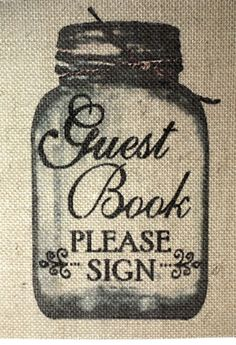 "Rustic VINTAGE Chic Country Burlap Wedding SIGN GUEST BOOK PLEASE SIGN 5X7"" #STUFFcc"