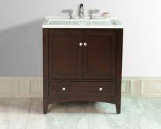 30.5-inch W Laundry Single Sink Vanity in Espresso