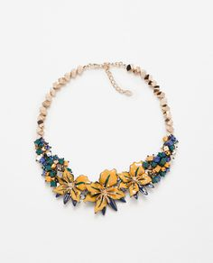 FLORAL CRYSTAL NECKLACE-View all-Accessories-WOMAN | ZARA Israel