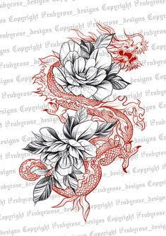 Dragon Tattoo Stencil, Dragon Tattoo Back, Dragon Tattoo For Women, Arm Tattoos For Women, Tattoo Stencils, Spine Tattoos, Dope Tattoos, Body Art Tattoos, Sleeve Tattoos