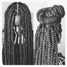 .@africancreature   MARLEYTWISTS  14inches. I used Model Model marley braiding hair and 4 strands...
