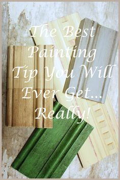 THE BEST PAINTING TIP YOU WILL EVER GET. Before you paint a piece of furniture read this!!!