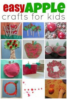 Easy apple crafts for toddlers and preschoolers!