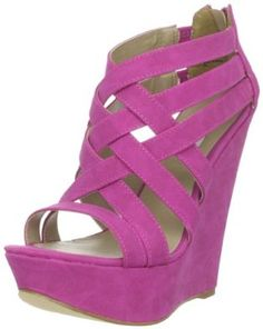 Dig 'em :) Steve Madden Fuchsia Wedge Sandals #shoes (Happy @Judi Cogen ?! :)