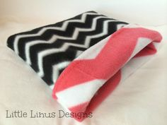 Cozy Fleece Cuddle Sleep Sack  Black Chevron by LittleLinusDesigns, $14.99