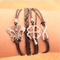 Good luck butterfly unisex bracelet