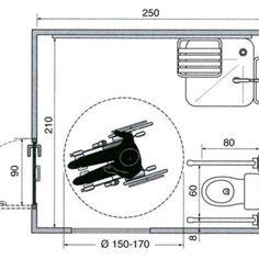 Slikovni rezultat za bathroom for disabled dimensions neufert Handicap Toilet, Toilet Plan, Movement In Architecture, Disabled Bathroom, Plumbing Drawing, Bathroom Dimensions, Hotel Room Design, Hospital Room, Toilet Design